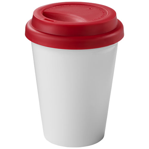 Zamzam 330 ml insulated tumbler in white-solid-and-red