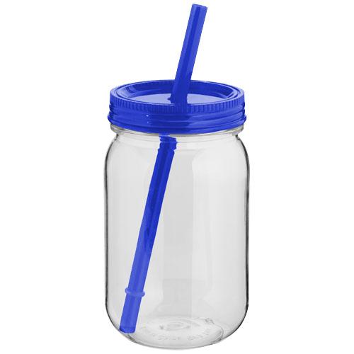 Binx mason jar in transparent-and-blue