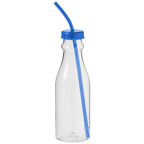 Soda bottle in royal-blue