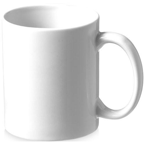 Bahia 330 ml ceramic mug in white-solid