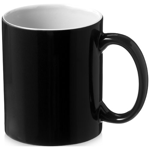 Java 330 ml ceramic mug in black-solid