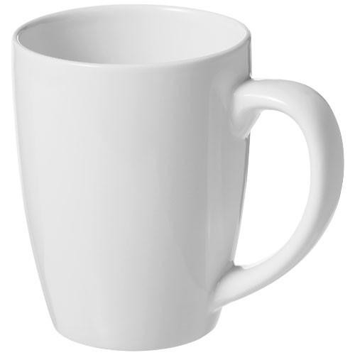 Bogota 350 ml ceramic mug in white-solid