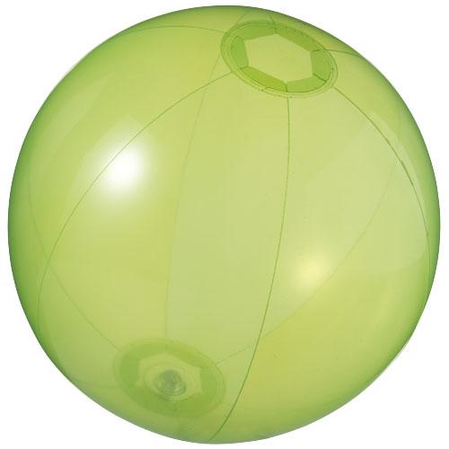 Ibiza transparent beach ball in transparent-green