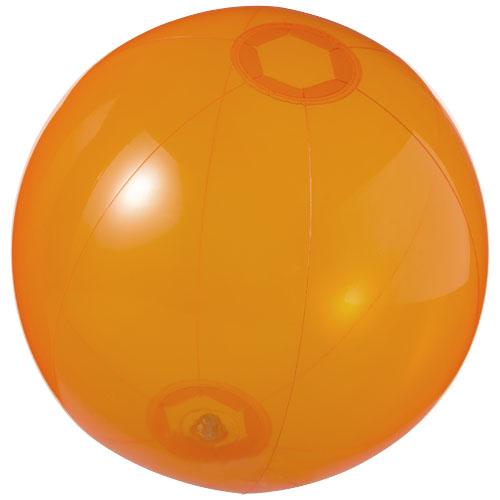 Ibiza transparent beach ball in transparent-orange
