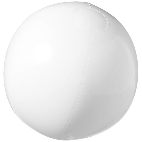Bahamas solid beach ball in white-solid