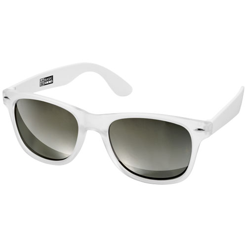 California exclusively designed sunglasses in white-solid-and-transparent-clear
