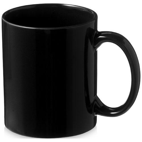 Santos 330 ml ceramic mug in black-solid