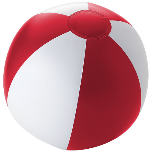 Palma solid beach ball in red-and-white-solid