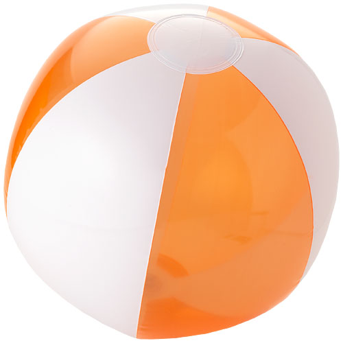 Bondi solid and transparent beach ball in transparent-orange-and-white-solid