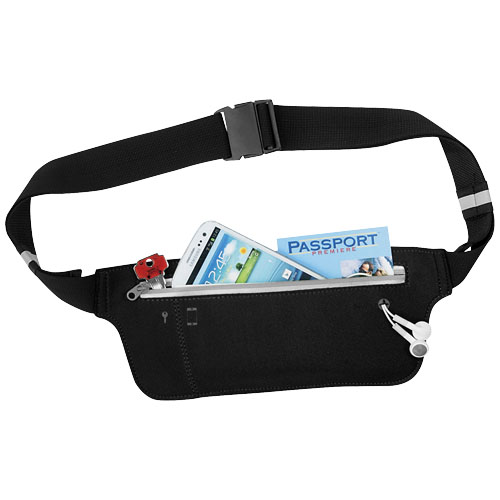 Ranstrong adjustable waist band in black-solid