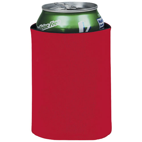 Crowdio insulated collapsible foam can holder in red