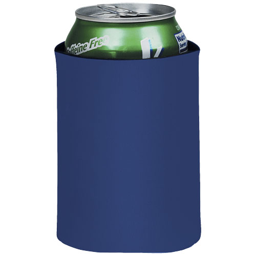 Crowdio insulated collapsible foam can holder in royal-blue