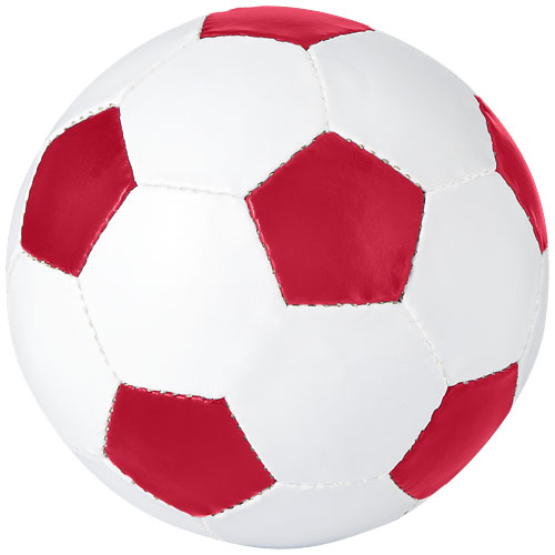 Curve football in white-solid-and-red