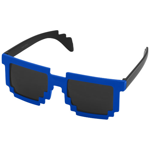 Pixel Sunglasses in black-solid-and-royal-blue