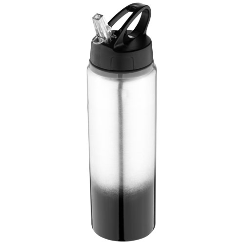 Gradient bottle in black-solid-and-silver