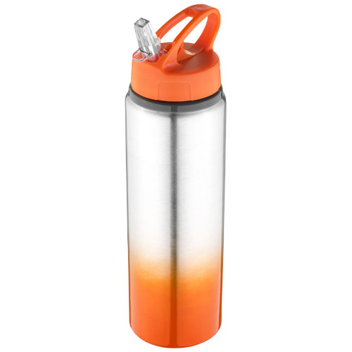 Gradient bottle in orange-and-silver