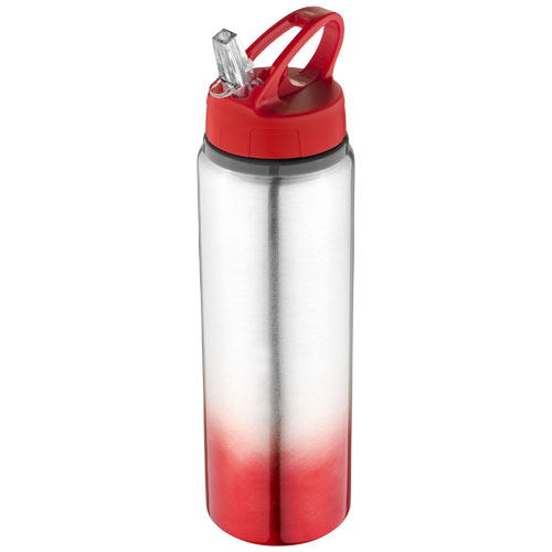 Gradient bottle in red-and-silver