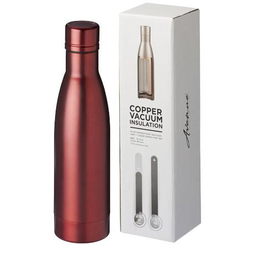 Vasa 500 ml copper vacuum insulated sport bottle in red