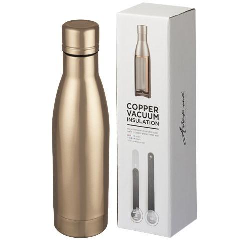 Vasa 500 ml copper vacuum insulated sport bottle in rose-gold