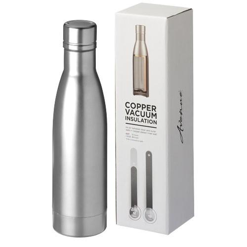 Vasa 500 ml copper vacuum insulated sport bottle in silver