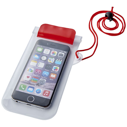 Mambo waterproof smartphone storage pouch in transparent-red