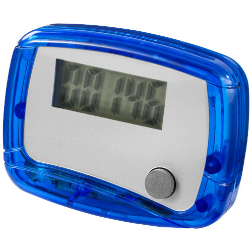 In shape pedometer in blue-and-white-solid