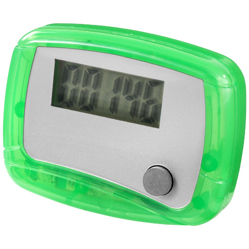 In shape pedometer in green-and-white-solid