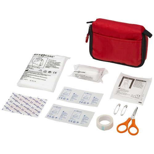 Save-me 19-piece first aid kit in red