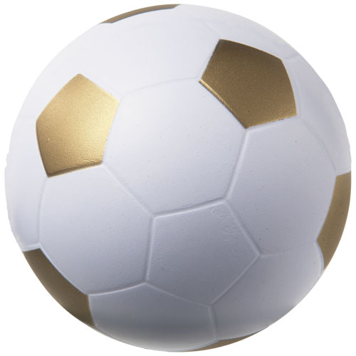 Football stress reliever in white-and-gold