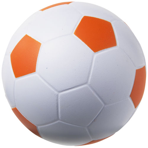 Football stress reliever in white-solid-and-orange