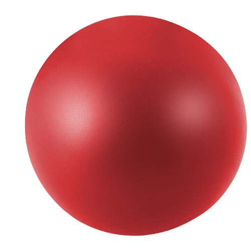 Cool round stress reliever in red