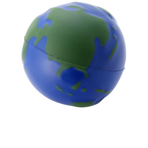 Globe stress reliever in blue-and-green
