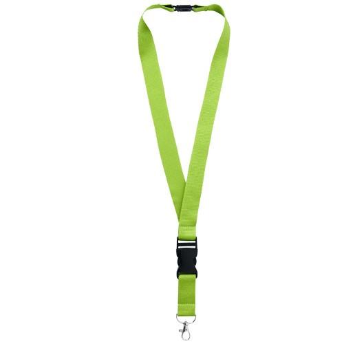 Yogi lanyard detachable buckle break-away closure in apple-green