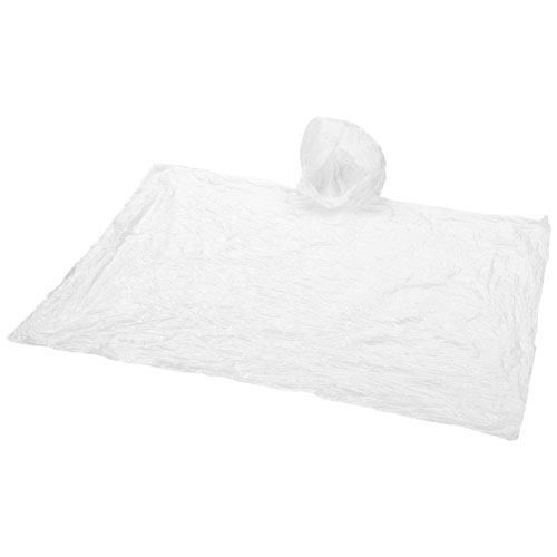 Huko disposable rain poncho with storage pouch in transparent-white