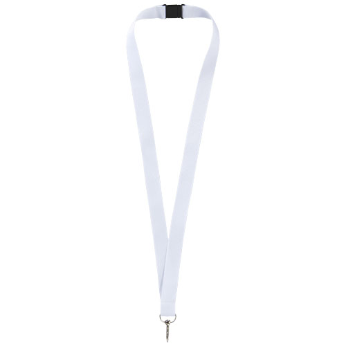 Lago lanyard with break-away closure in white-solid