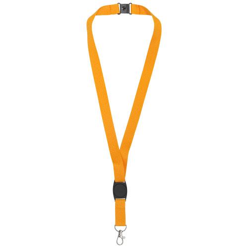 Gatto lanyard with break-away closure in orange