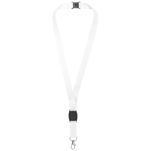 Gatto lanyard with break-away closure in white-solid