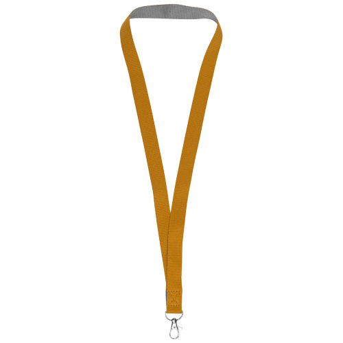 Aru two-tone lanyard with velcro closure in orange