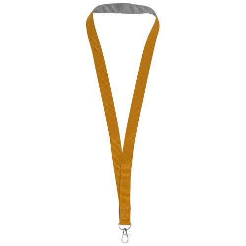 Aru dual-tone lanyard with hook & loop closure