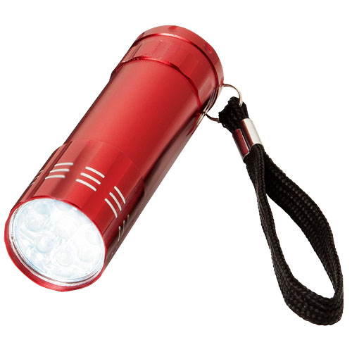 Leonis 9-LED torch light in red