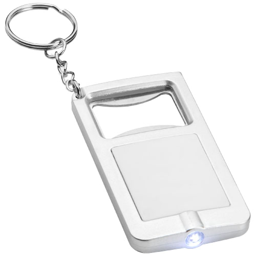 Orcus LED keychain light and bottle opener in