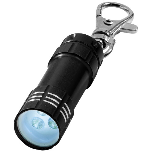 Astro LED keychain light in black-solid