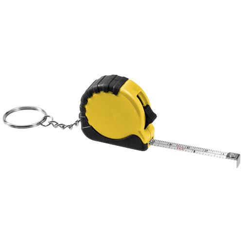 Habana 1M measuring tape key chain in yellow