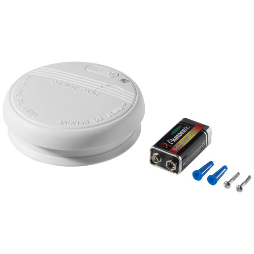 Troy smoke detector in white-solid