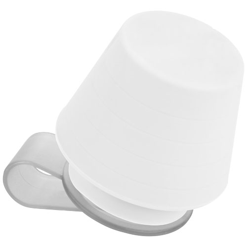 Saga lampshade and media stand in white-solid