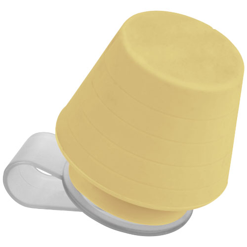 Saga lampshade and media stand in yellow