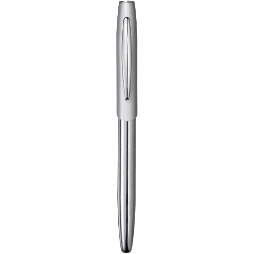 Geneva rollerball pen in silver-and-navy