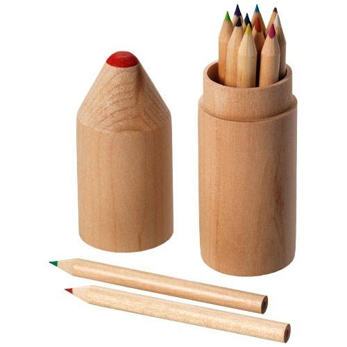 Woody 12-piece coloured pencil set