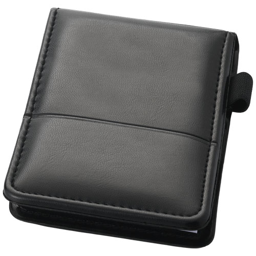 Flemming jotter notepad in black-solid