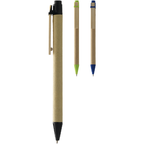 Salvador recycled ballpoint pen in natural-and-navy